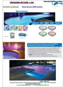 Piscinas - Leds/Projectores